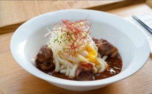 牛肉及温泉蛋配和風咖喱汁讚岐烏冬 $72(單點)